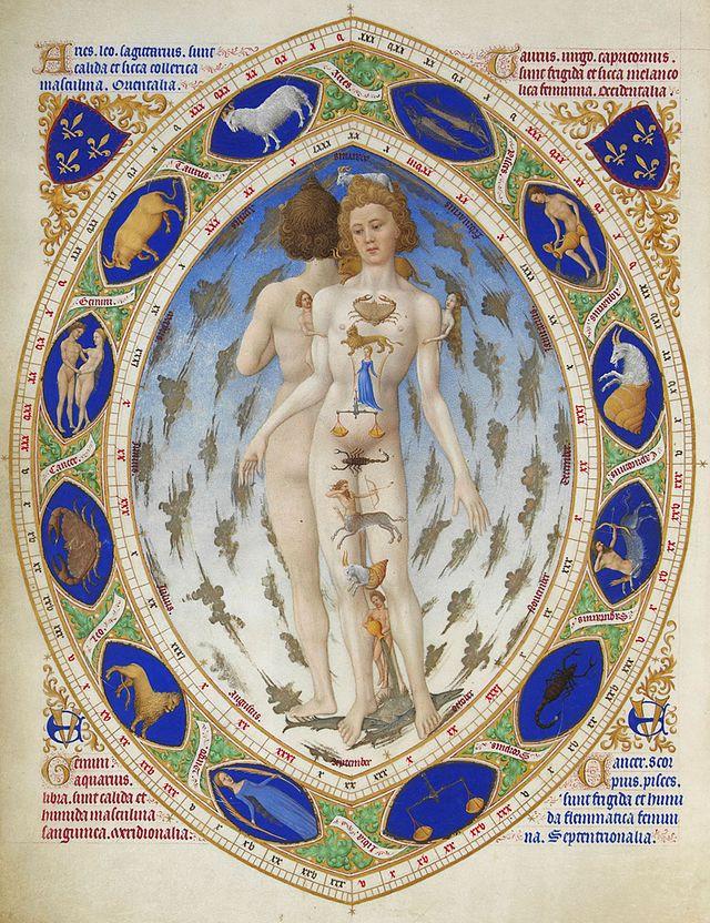 Enluminure - L'Homme zodiacal