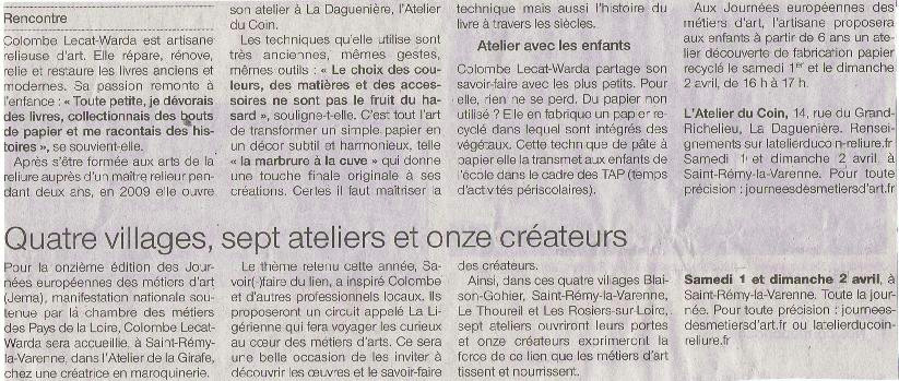 jema 2017 - article Ouest France