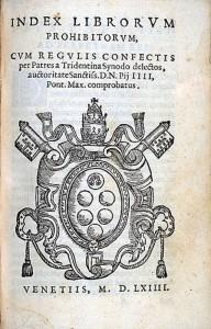 Index Librorum Prohibitorum, 1564.