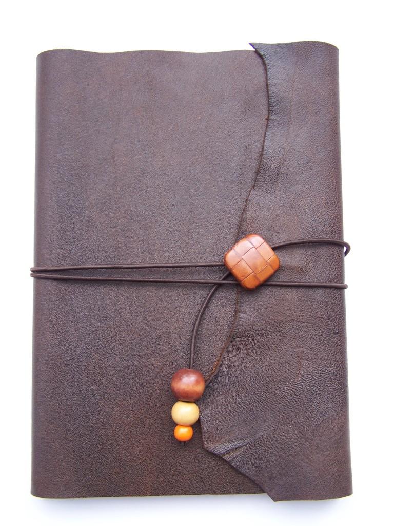 Liseuse cuir et son carnet